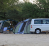 Our camp - Nossob. The kombi was great, giving us loads of space while on the game drives. Not to mention the added advantage of the height for viewing.