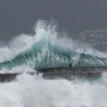 Man swept off Kalk Bay harbour wall by huge wave